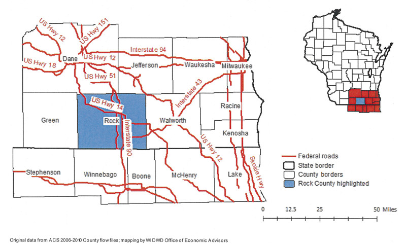Rock County Commuting Patterns